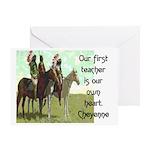 OUR FIRST TEACHER Greeting Card