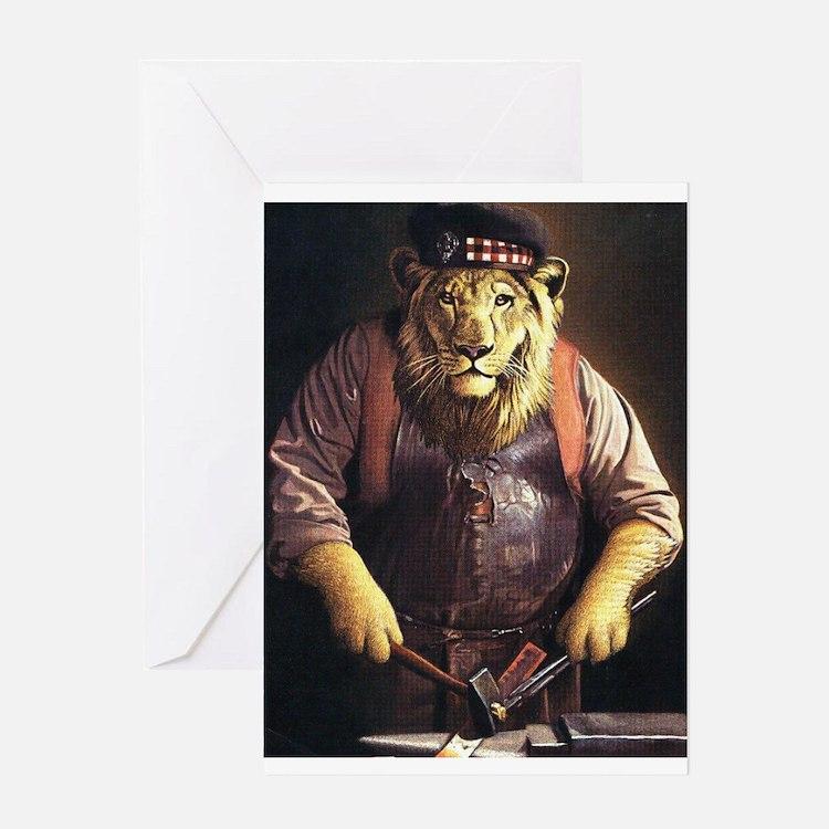 Cute Scotland lion Greeting Card