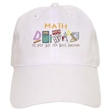 Math: It's Not Just For Boys Anymore Baseball Cap