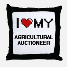 I love my Agricultural Auctioneer Throw Pillow