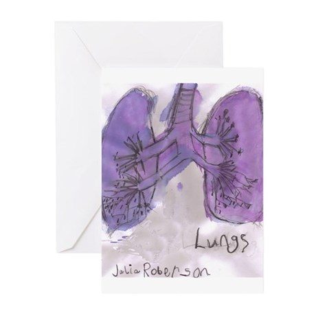 Lung Greeting Cards (Pk of 20)