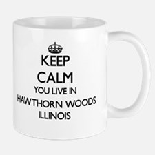 Keep calm you live in Hawthorn Woods Illinois Mugs