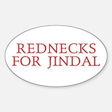 Rednecks for Jindal Oval Decal
