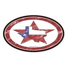 Texas Star Oval Decal