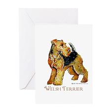 Welsh Terrier Design Greeting Card