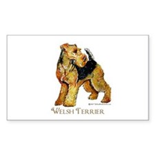 Welsh Terrier Design Rectangle Decal