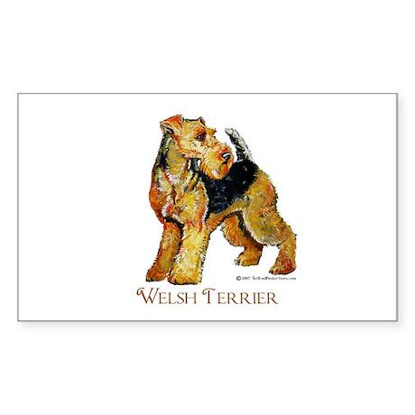 Welsh Terrier Design Rectangle Sticker