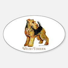 Welsh Terrier Design Oval Decal