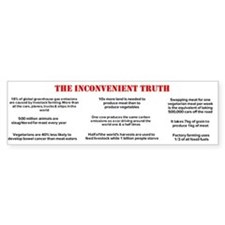 The Inconvenient Truth About Meat Bumper Bumper Sticker