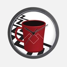 Black Lodge Coffee Wall Clock