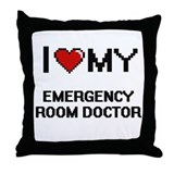 Emergency doctor Throw Pillows