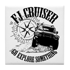 FJ Cruiser, Go Explore Something Tile Coaster