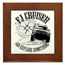 FJ Cruiser, Go Explore Something Framed Tile