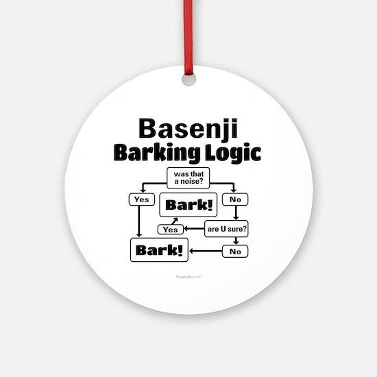 Basenji Logic Ornament (Round)