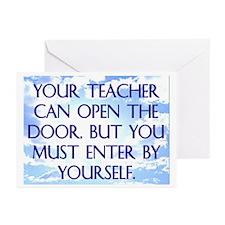 YOUR TEACHER CAN OPEN THE DOOR Greeting Cards (Pk