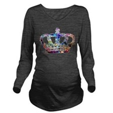Cute Crown royal Long Sleeve Maternity T-Shirt