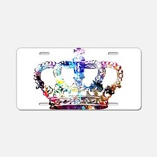 Cute Crown Aluminum License Plate