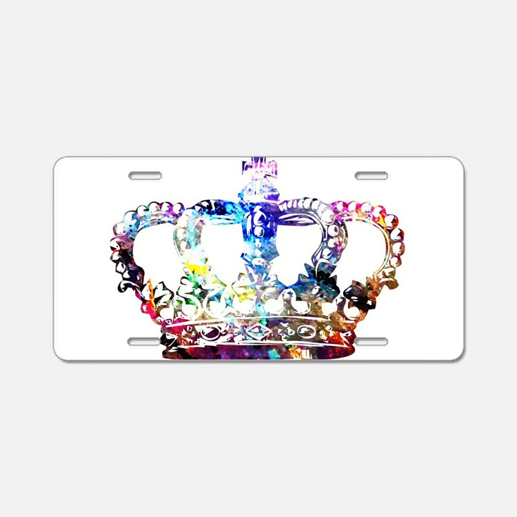 Cute Crowns Aluminum License Plate