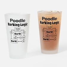 Poodle Logic Drinking Glass