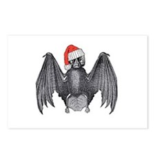 Santa Claws Bat Postcards (Package Of 8)