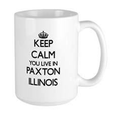 Keep calm you live in Paxton Illinois Mugs