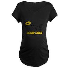 Oscar Gold Maternity T-Shirt