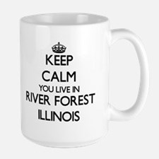 Keep calm you live in River Forest Illinois Mugs