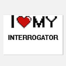 I love my Interrogator Postcards (Package of 8)