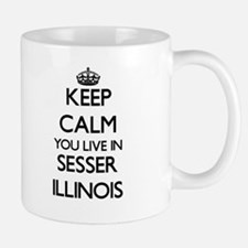 Keep calm you live in Sesser Illinois Mugs