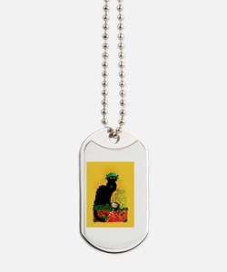Chat Noir St Patricks Day Dog Tags