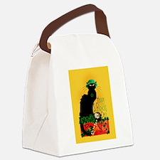 Chat Noir St Patricks Day Canvas Lunch Bag