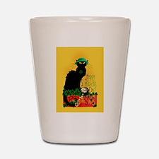 Chat Noir St Patricks Day Shot Glass