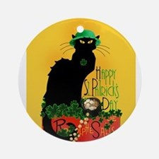 Chat Noir St Patricks Day Ornament (Round)