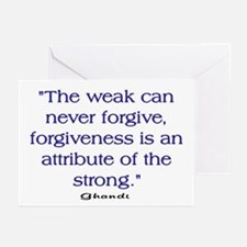 THE WEAK CONNOT FORGIVE Greeting Cards (Pk of 20)