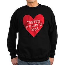 Red Teacher Heart Sweatshirt