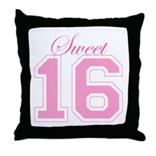 Sweet 16 (Varsity Letters) Throw Pillow