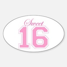 Sweet 16 (Varsity Letters) Oval Decal