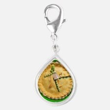 Ultimate Pi Day 2015 Silver Teardrop Charm