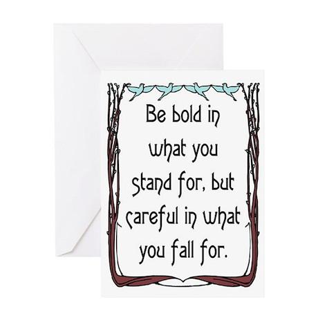 BE BOLD Greeting Card