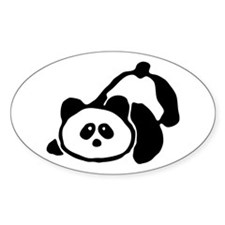 Panda Oval Decal