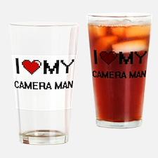 I love my Camera Man Drinking Glass