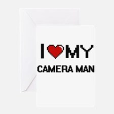 I love my Camera Man Greeting Cards