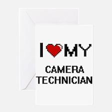 I love my Camera Technician Greeting Cards