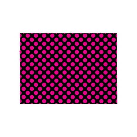 Pink Polka Dots 5u0027x7u0027Area Rug