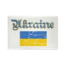 Ukrainian Flag Rectangle Magnet