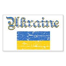 Ukrainian Flag Rectangle Decal