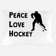 Peace Love Hockey Pillow Case