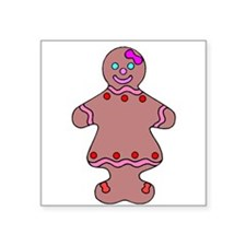 Ginger Bread Woman Sticker