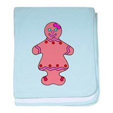 Ginger Bread Woman baby blanket