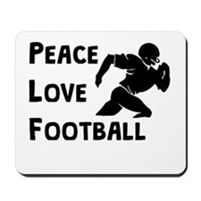 Peace Love Football Mousepad